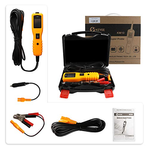 KM10 Automotive Circuit Tester Power Probe Kit Diagnostic Test Tool Vehicle Voltage Signal Diagnostic/Components Activated/Continuity Short Testing for 12-24V Auto Electrical System by Quicklynks (Image #8)