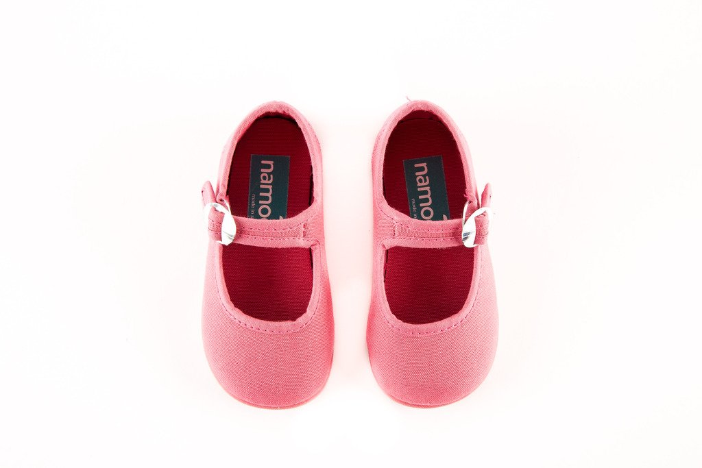 Namoo Kids Canvas Mary Jane, Cotton and Rubber Sole, Baby/Toddler/Kid Shoe (Strawberry) by Namoo (Image #2)
