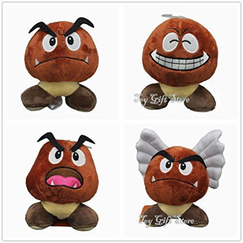 Birdo Costume (4 pcs New Super Mario Bros. Goomba Plush Doll Stuffed Toy 5.5