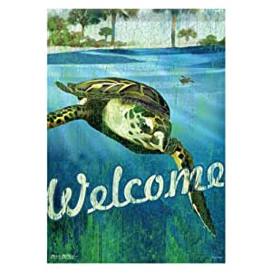 Welcome Turtle Nautical Summer Garden Flag