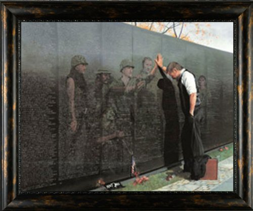 Reflections Lee Teter 32x25 Quality Framed Print Vietnam War Wall Memorial Picture by Picture Peddler