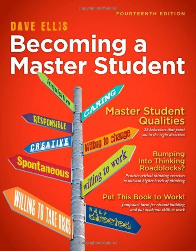 Becoming a Master Student by Dave Ellis [Cengage,2012] (Paperback) 14th Edition
