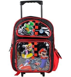 Amazon.com: Super Mario Bros. Large Rolling BackPack - Mario Large ...