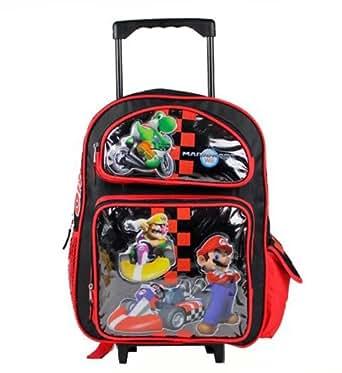 "Amazon.com   16"" Large Super Mario Bros Roller Backpack"