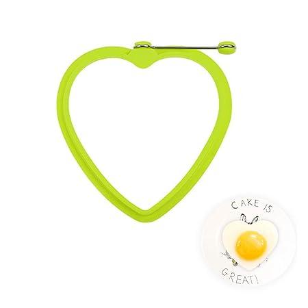 JoyFan Molde de Huevo Frito Forma de corazón para cocinar ...