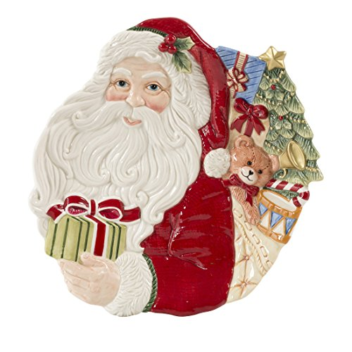 Fitz & Floyd Night Before Christmas Collection, Santa Canape Set, - Floyd Plates Fitz Christmas And