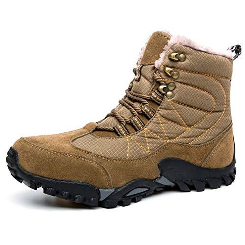 メンズシューズレザー冬新しいマーティンブーツハイトップカジュアルシューズウォームブーツツーリングブーツファッション足首ブーツレースアップ毎日の靴 Brown 40