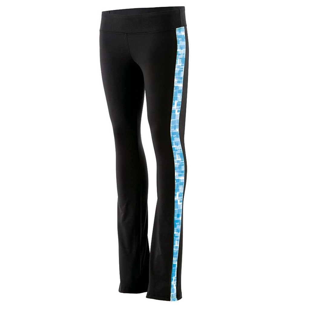 Holloway Juniors Superstar Fitted Pants (Medium, Black/Bright Blue Print) by Holloway