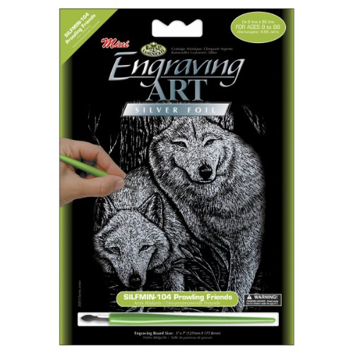 - Royal Brush Mini Silver Foil Engraving Art Kit 5 by 7-Inch, Prowling Friends