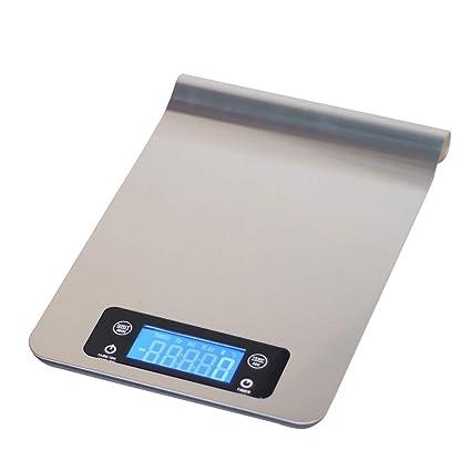 GSJJ Precisa Báscula Digital Cocina de Acero Inoxidable, Balanza de Alimentos Multifuncional, para Uso