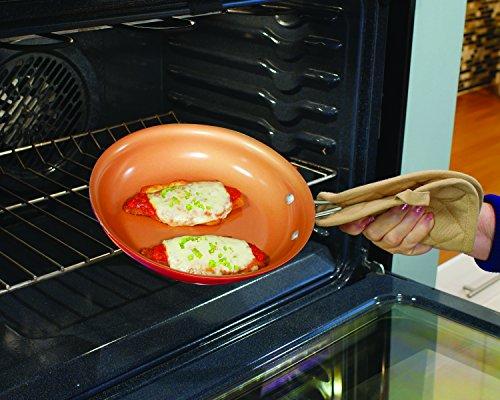 Red Copper Ceramic Non Stick 10 Piece Cookware Set By