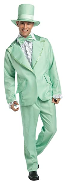 70s Costumes: Disco Costumes, Hippie Outfits Rasta Imposta Mens Retro Green 70S Funky Tuxedo Pastel Theme Party Costume $66.95 AT vintagedancer.com