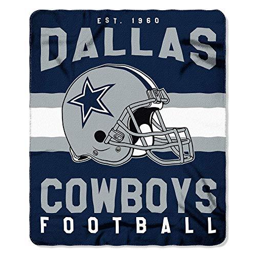 The Northwest Company NFL Dallas Cowboys Singular Fleece Throw, 50-inch by 60-inch, Blue