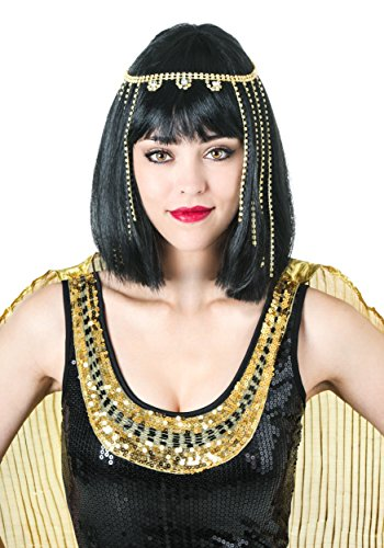 Deluxe Black Cleopatra Costumes Wig (Deluxe Cleopatra Wig Standard)