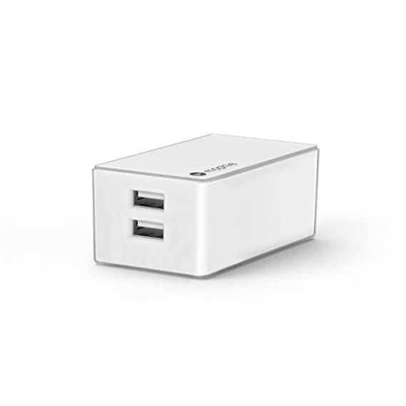 more photos 28902 77351 mophie Dual Port High Power (4.2 Amp) Wall Travel Charger for mophie Juice  Pack Battery Case, Powerstation, Tablets & All USB Powered Devices - White  ...