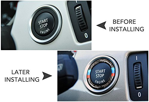 63a7ad9d756a Car Engine Start Stop Ignition Key Ring Stickers Fit For BMW E90 E92 E93  2009-