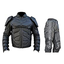 Classyak Men's Dark Knight Real Leather Suit, High Quality, Xs-5xl
