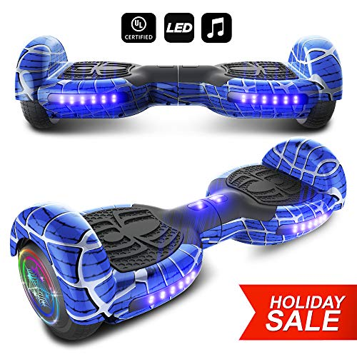 CHO Spider Wheels Series Hoverboard UL2272 Certified Hover Board with 6.5 inch Wheels Electric...