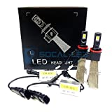 SOCAL-LED H16 5202 Fanless LED Conversion Kit 60W 6400LM 6000K Xenon White Car Fog Light Bulbs