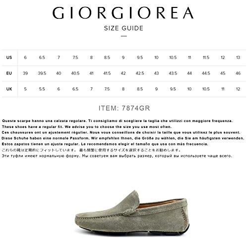 Gris Car Shoes Cuero EN plomo Brogue Para Giorgio A Real Oxfords Mocasines Mano Elegante Richelieu Rea Italia Gris Hombre Zapatos Plomo Hecho Hombre Zapatos qXXaBnIxw