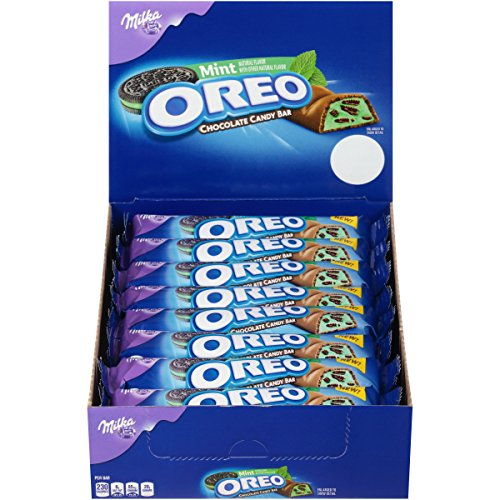 Oreo Mint Chocolate Candy Bar - 1.44 oz., 24 Count - Mint Candy Bars