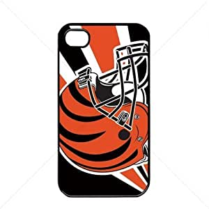 NFL American football Cincinnati Bengals Case For Iphone 4/4S Cover PC Soft (Black)