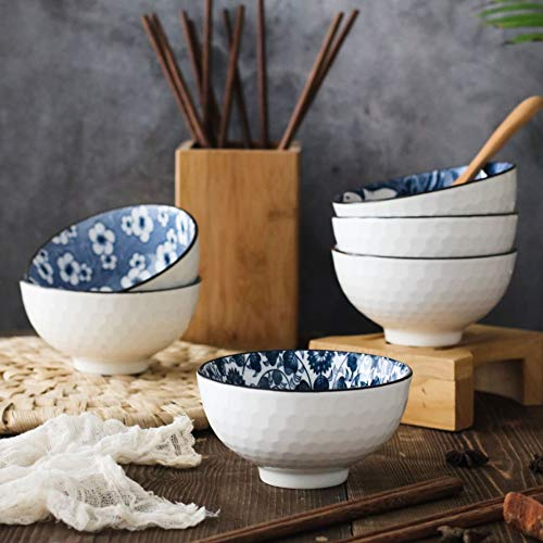 YLee Ceramic Bowl Bone China Cutlery Set Jingdezhen Tableware Chinese Blue and White Porcelain Tableware Kitchen Dining Supplies,C by YLee (Image #1)