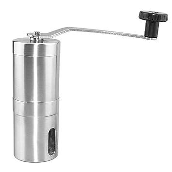 Molinillo de café manual Máquina de pulir del grano de café del molinillo de café acero inoxidable -Matefielduk: Amazon.es: Hogar