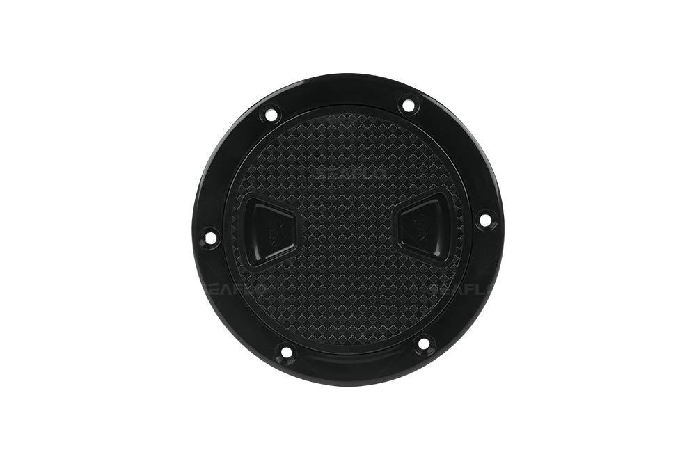 SEAFLO 4'' - 8'' Black Circular Non Slip Inspection Hatch w/Detachable Cover (4'') by SEAFLO