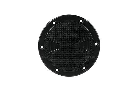 Seaflo 4-8 Black Circular Non Slip Inspection Hatch w//Detachable Cover