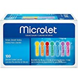 Microlet Colored Lancets 100 Each ( 3 pack)