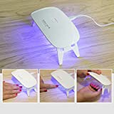 Nail Dryer, Mini 6W UV LED Nail Lamp,Led Gel Nail