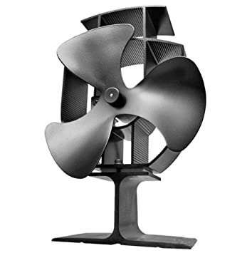AOHMG 3 Cuchillas accionadas por Calor Ventilador Estufa Ventilador para Estufa Madera/Quemador de Troncos