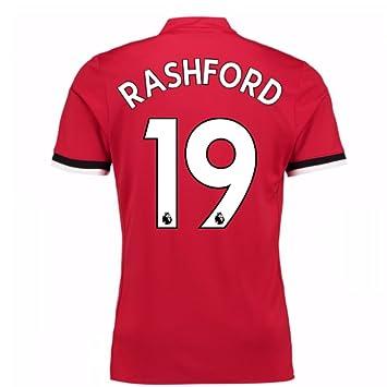 522c25f61 2017-2018 Man United Home Football Soccer T-Shirt (Marcus Rashford 19)   Amazon.co.uk  Sports   Outdoors