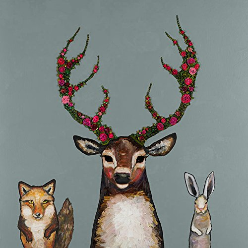 Price comparison product image Fox Buck & Hare Palladian Blue by Eli Halpin - Stretched Canvas Wall Art