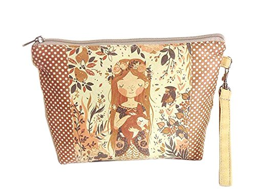 Creative And Pretty Girl Canvas Cosmetic Bags/Purse