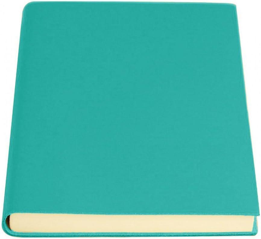 Amazon Com Coles Sorrento Medium Leather Journal Aqua Office Products