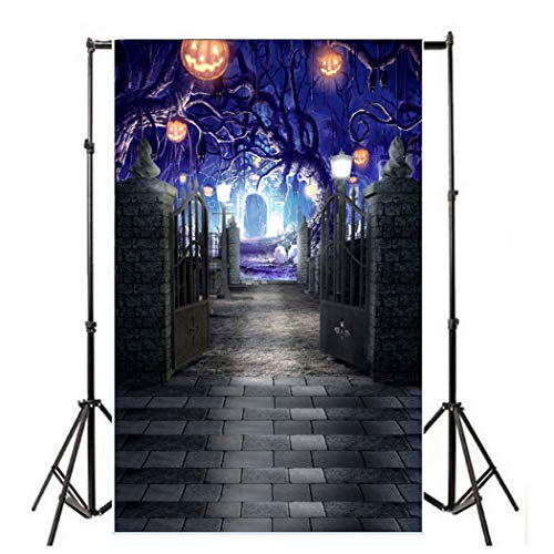 5x7ft Halloween Backdrop,Terrrible Night Before Halloween Ghost Tree