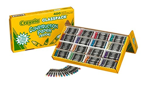 Crayola 52-1617 Class Pack Crayola Construction Paper Crayons, 25 ea. of 16 Colors, 400/Set by Crayola (Image #5)