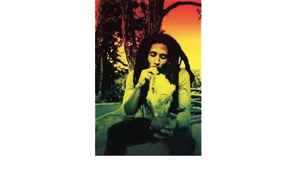 Amazon com: Bob Marley Poster, Rasta, Smoking Weed, Reggae
