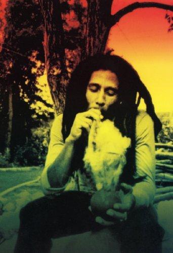 Bob Marley Poster Rasta Smoking Weed Reggae Music Legend