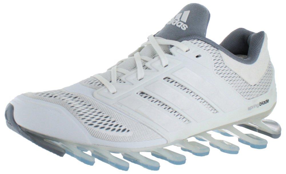 adidas mens springblade guidare le scarpe da corsa in bianco / nero