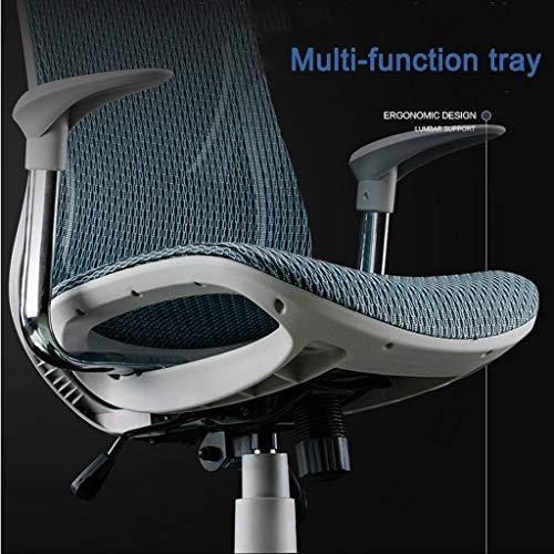 Executive Mesh dator skrivbordsstolar hög rygg kontorsstol förtjockad kudde och sittdyna, lutande rygg, 360 graders rotation maxvikt kapacitet 100 kg