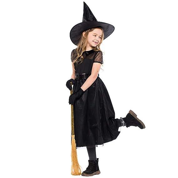 4Pcs Disfraz de Halloween Chica Niño Regalo Traje de Vestido ...