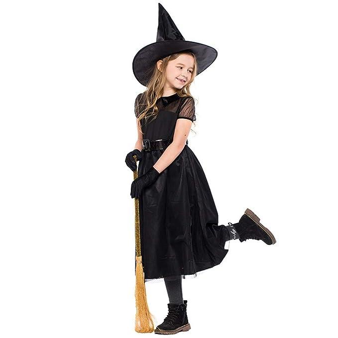 Disfraz Vestido Halloween Para Niñalenfesh 4pc Niños