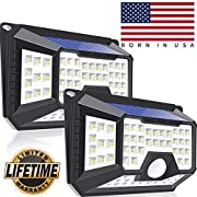#LightningDeal Solar Motion Sensor Light Outdoor,2-PACK New Upgrade 66 LED Solar Lights Outdoor,Motion Solar Lights Outdoor Waterproof,Led Solar Lights Outdoor Motion Sensor,Super Bright Solar Sensor Lights (66 LED)