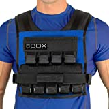 Box 45 Lb Weighted Vest for Crossfit and Gym Bodyweight Training - Made in USA