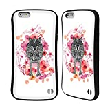 Official Monika Strigel Wolf Animals And Flowers Hybrid Case for Apple iPhone 6 Plus / 6s Plus