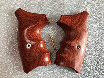 New wood checkered grips for S/&W J Frame Square//Round butt