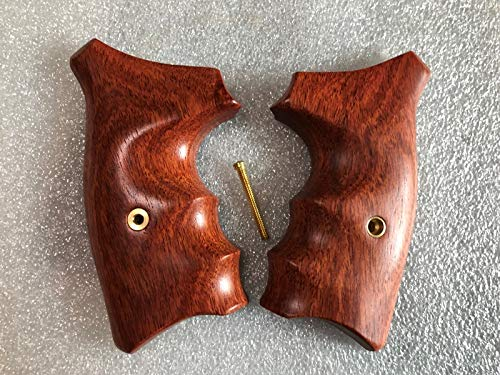 Feelsogood Hot!! Smith &Wesson, J Frame, Square Butt Revolver Grips, Chiefs Special, Smooth and Opened Back,Hard Wood Thai Handmade and Ship from Thailand